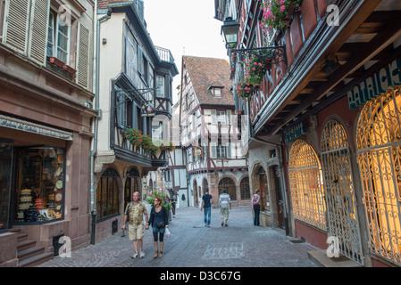 City center of Colmar, France - Stock Image