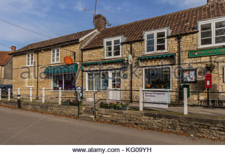 Robin Hill stores and Post Office in Marnhull village Dorset - Stock Image