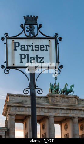 Brandenburg gate in Berlin, Germany - Stock Image