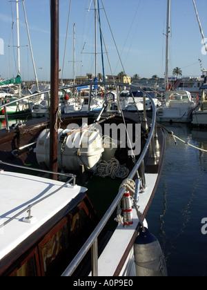Sailing Boats Puerto Deportivo de Fuengirola Fuengirola Port Costa del Sol Spain - Stock Image