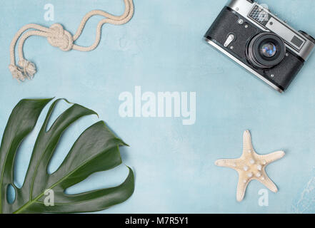 Concept travel and vacation in tropical countries. view from above. copy space - Stock Image