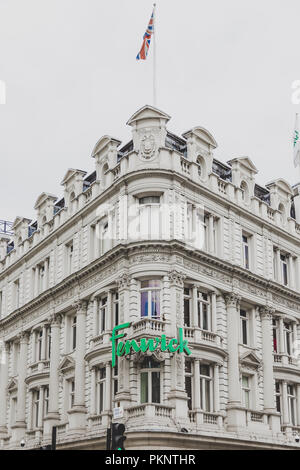 LONDON, UNITED KINGDOM - August 22nd, 2018: facade of the Fenwick department Store in London city centre - Stock Image