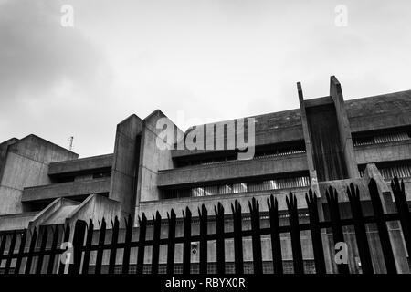 concrete brutalist building - Stock Image