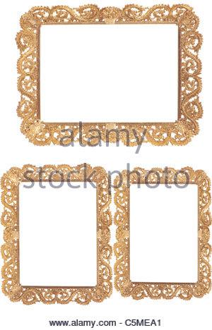 Gold frame set - Stock Image