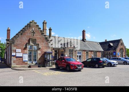 Dingwall Railway Station, Station Road, Dingwall, Highland, Scotland, United Kingdom - Stock Image
