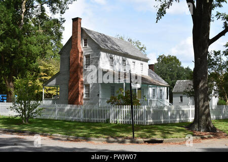The historic Joseph Bonner House located in Bath, North Carolina.  Bath is the oldest town in North Carolina. - Stock Image