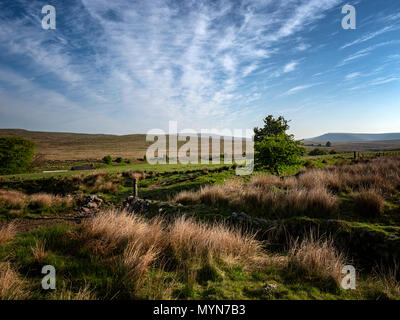 Brecon Beacons National Park, Wales, towards Pen y Fan, at 886 metres the highest peak in south Wales and the southern half of the UK - Stock Image