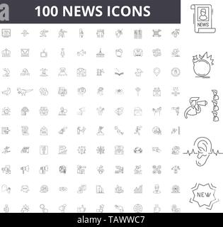 News line icons, signs, vector set, outline illustration concept  - Stock Image