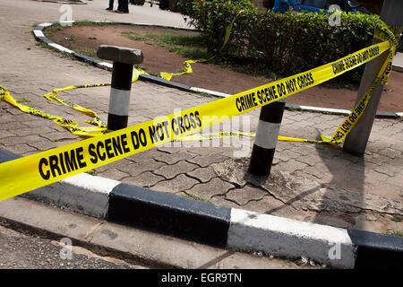 Crime Scene tape - Stock Image