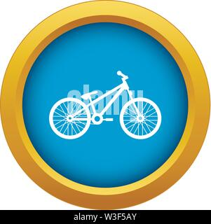 Bike icon blue vector isolated - Stock Image