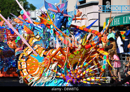 Junkanoo Parade during the New Year's carnival in Nassau, Bahamas - Stock Image