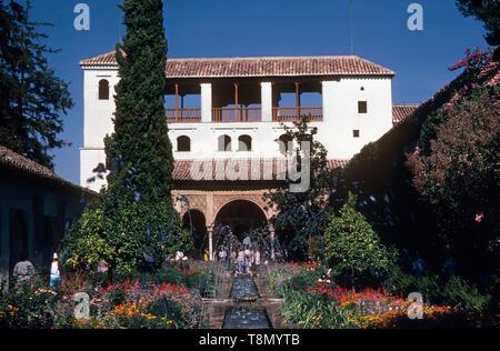 Generalife, Granada, Andalucia, Spain, Europe - Stock Image