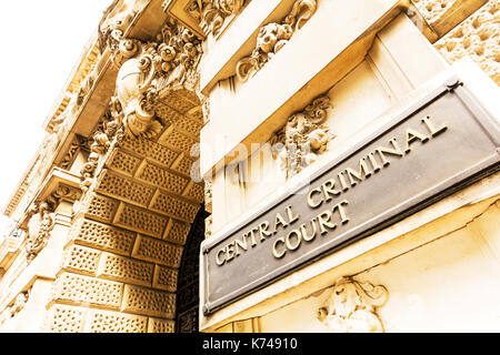 Old Bailey Central Criminal Court, Crown Court London, Old Bailey Crown Court, Crown Court Old Bailey, London Central Criminal Court, London court - Stock Image