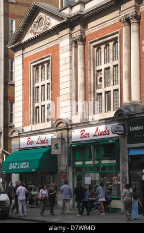 Bar Linda Cafe Bar Baker Street London - Stock Image
