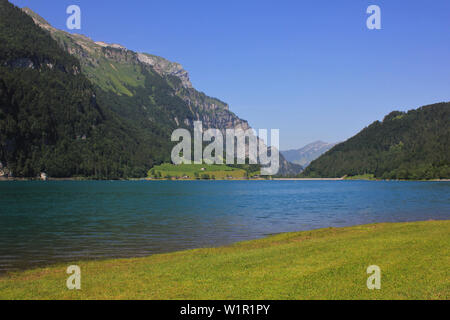 Summer day at Lake Kloental. - Stock Image