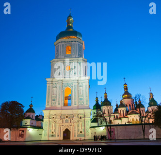 St. Michael's gold-domed cathedral and monastery in Kiev (Kyiv) Ukraine - Stock Image