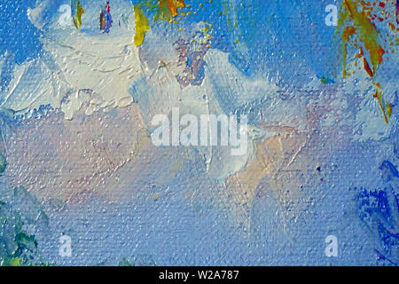 Abstract paint texture on canvas - Stock Image