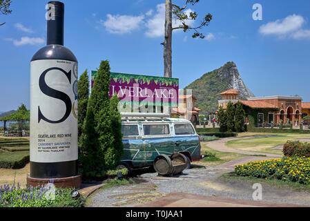 Vineyard. Thailand vineyard, Silverlake, Pattaya, Southeast Asia - Stock Image