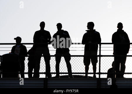 Mapfre stadium, USA. 23rd April, 2016. .Fans standing in the sun before the first half of the match between Houston - Stock Image