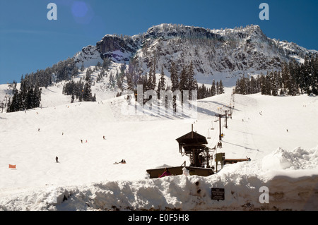 Good ski slopes in Washington State - Stock Image