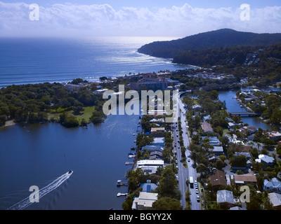 Aerial view of Noosa Heads, Queensland Australia - Stock Image