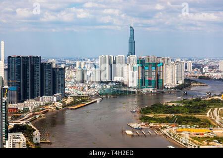 Sky line at Ho Chi Minh city, Saigon, Vietnam, Asia, - Stock Image