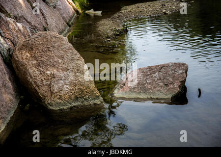 Big stones in the river - Stock Image