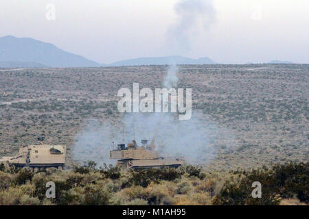 An M-109A6 Paladin from Charlie Battery, 1st Battalion, 144th Infantry Regiment, California Army National Guard, - Stock Image