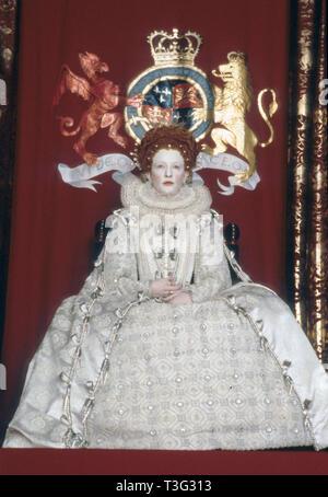 ELIZABETH 1998 PolyGram film with Cate Blanchett as Elizabeth I - Stock Image