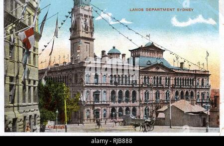 Department of Lands Building, Bridge Street, Sydney, New South Wales, Australia. - Stock Image