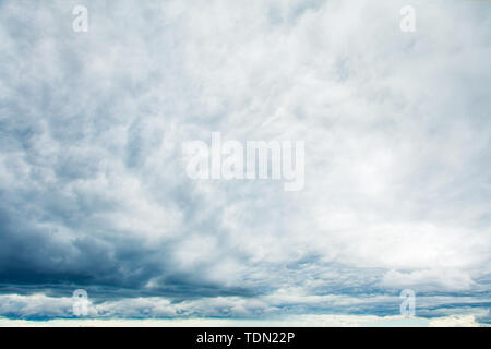 Gray sky clouds background. Beautiful landscape with clouds on sky - Stock Image