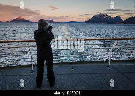 On board the Hurtigruten coastal steamer, Norway. - Stock Image