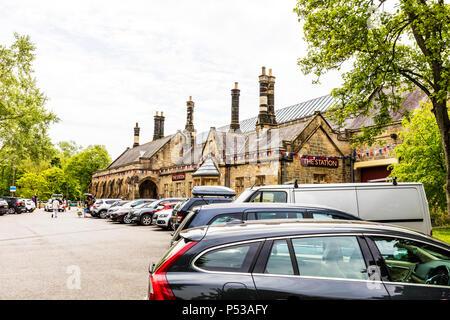 the station Richmond, Richmond Yorkshire UK, the station Richmond yorkshire, Disused railway station at Richmond Station North Yorkshire, building, UK - Stock Image