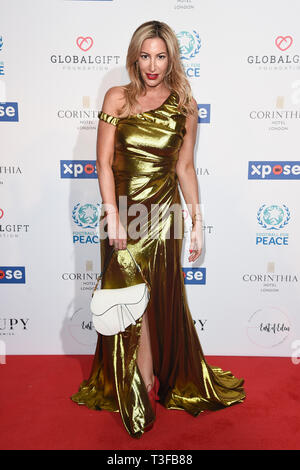 London, UK. 08th Apr, 2019. LONDON, UK. April 08, 2019: Laura Pradelska arriving for the Football for Peace initiative dinner by Global Gift Foundation at the Corinthia Hotel, London. Picture: Steve Vas/Featureflash Credit: Paul Smith/Alamy Live News - Stock Image