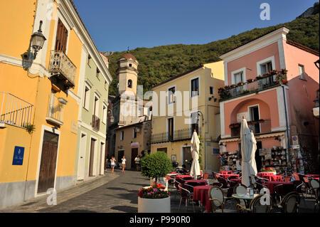 italy, basilicata, maratea, village - Stock Image