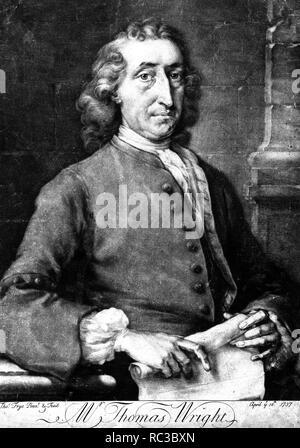 THOMAS WRIGHT (1711-1786) English mathematician and astronomer - Stock Image