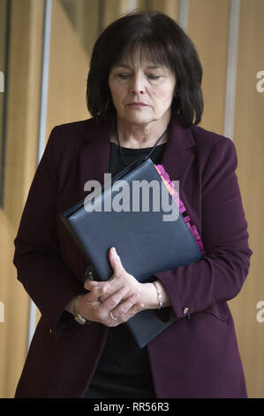 Politicians attend the weekly First Ministers Questions at Hollyrood.  Featuring: Jeane Freeman Where: Edinburgh, United Kingdom When: 24 Jan 2019 Credit: Euan Cherry/WENN - Stock Image