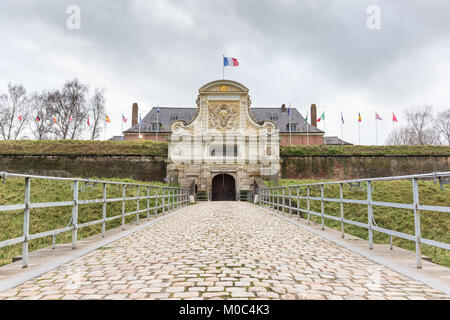Entrance to the citadel of Lille, headquarters of the NATO Rapid Reaction Corps - Stock Image