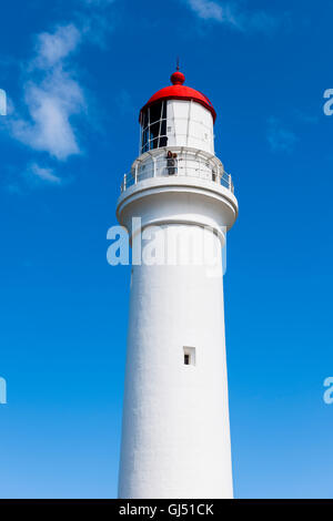 The Split Point Lighthouse along the Great Ocean Road. - Stock Image