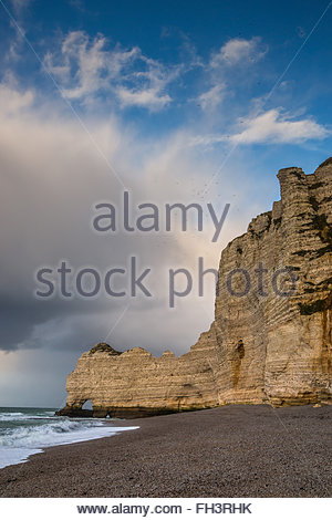 Etretat cliffs in Normandy (France) - Stock Image