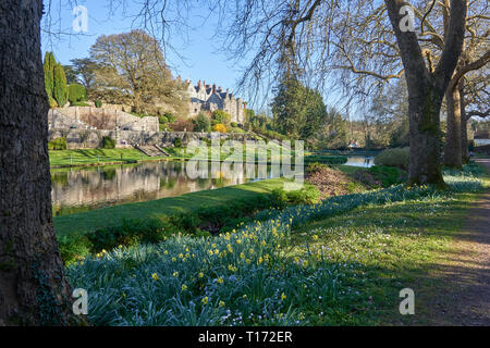 The gardens of St Fagans Castle, St Fagans National Museum of History, Cardiff, South Wales - Stock Image