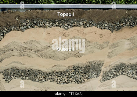 Outdoor soil model - Stock Image