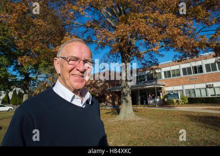 Merrick, New York, USA. Nov. 08, 2016. DAVID G. MCDONOUGH, (Republican - District 14) New York State Assemblyman, - Stock Image