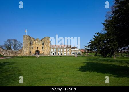 Tonbridge Castle Gatehouse and mansion, Kent,England - Stock Image