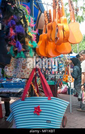 Sunday street market in Jalan Gaya, Kota Kinabalu, Malaysian Borneo - Stock Image