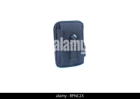 black pocket of military on isolated - Stock Image