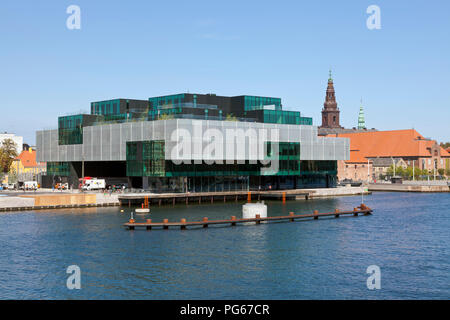 The BLOX building a new prestige building for architecture and design at the waterfront on Christians Brygge in Copenhagen at Frederiksholm Canal. - Stock Image