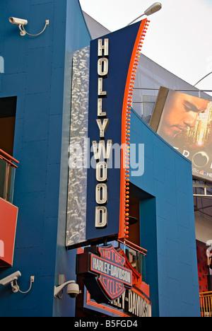 LA California Los Angeles CA Universal City Walk Citywalk Hollywood sign holiday holidays travel us usa vacation - Stock Image