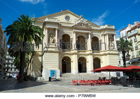 Theatre Municipal - in Toulon, in the Var department, Provence-Alpes-Côte d'Azur region, southern France. - Stock Image