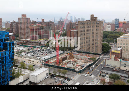 Construction on the Lower East Side, Manhattan, New York, NY, USA - Stock Image